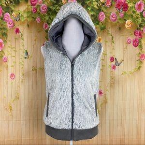 Patagonia Conejo Faux Fur Sleeveless Hooded Vest